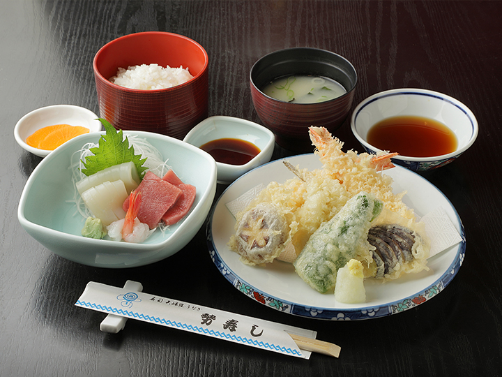 上天ぷら定食(刺身付)・・・1,500円+税