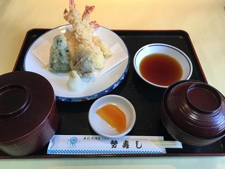 えび天ぷら定食・・・1,500円+税
